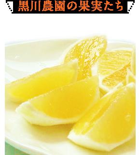 黒川農園の果実たち